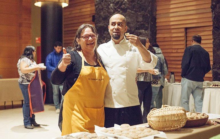Monica y chef cumbres ptovaras