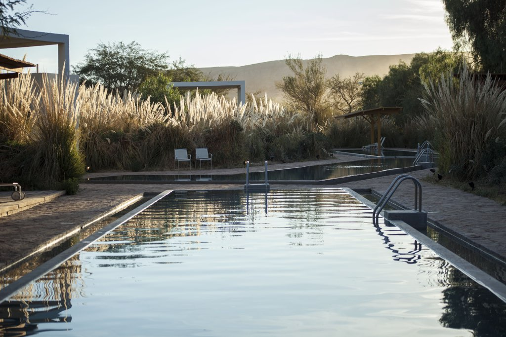 swimming pools sunset