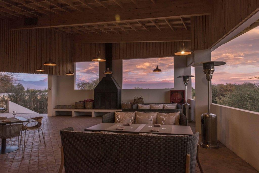 terrace dinning room sunset