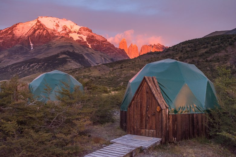 ecocamp patagonia sunrise in torres del paine national park chile 26121862731 o