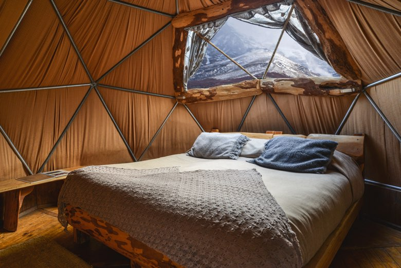 standard dome interior ecocamp patagonia torres del paine national park chile 27872672620 o