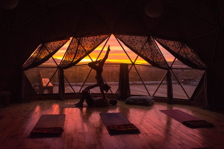 yoga dome ecocamp patagonia sunrise in torres del paine national park chile 26122317491 o